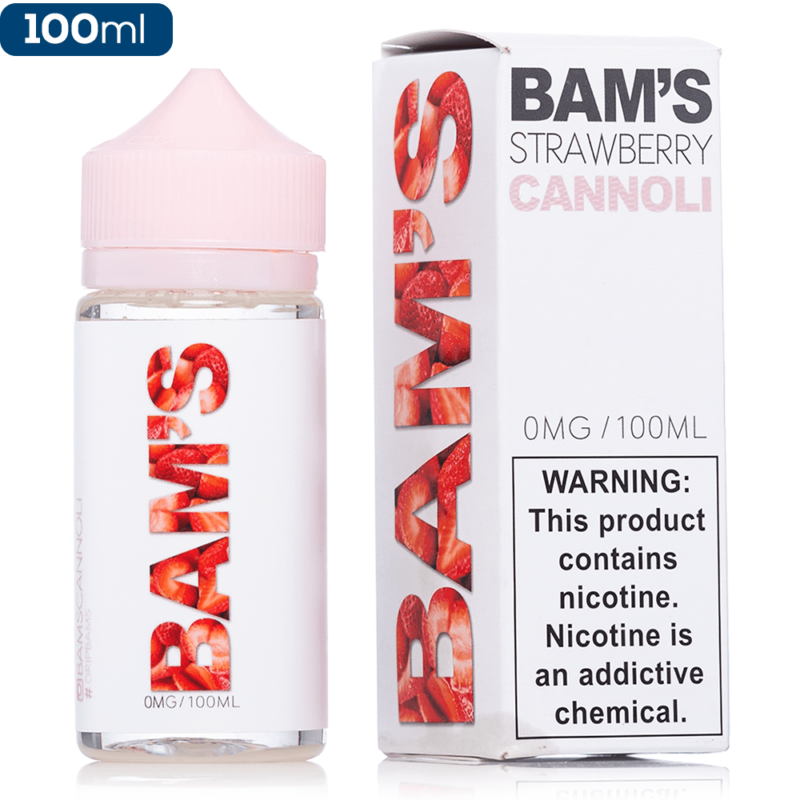 Bam's Strawberry Cannoli E-Liquid (100ml)