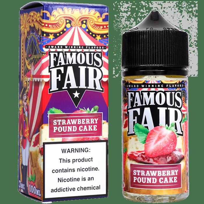 Famous Fair - Strawberry Pound Cake - 100ml