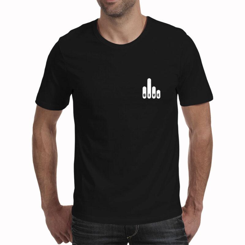 The Beard Guy Fcks to give t-shirt charcoal melange