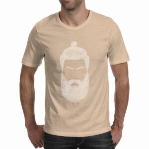 The Beard Guy - Beige - Line Beard T-Shirt