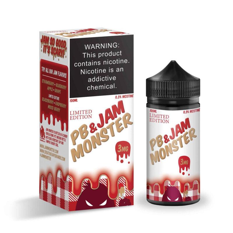 Jam Monster Strawberry PB And JAM Vape Juice 100ml